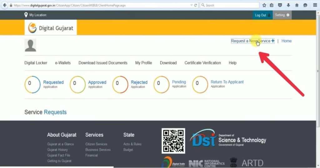 Digital Gujarat Portal Dashboard