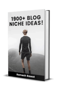 1900 Blog Niches list