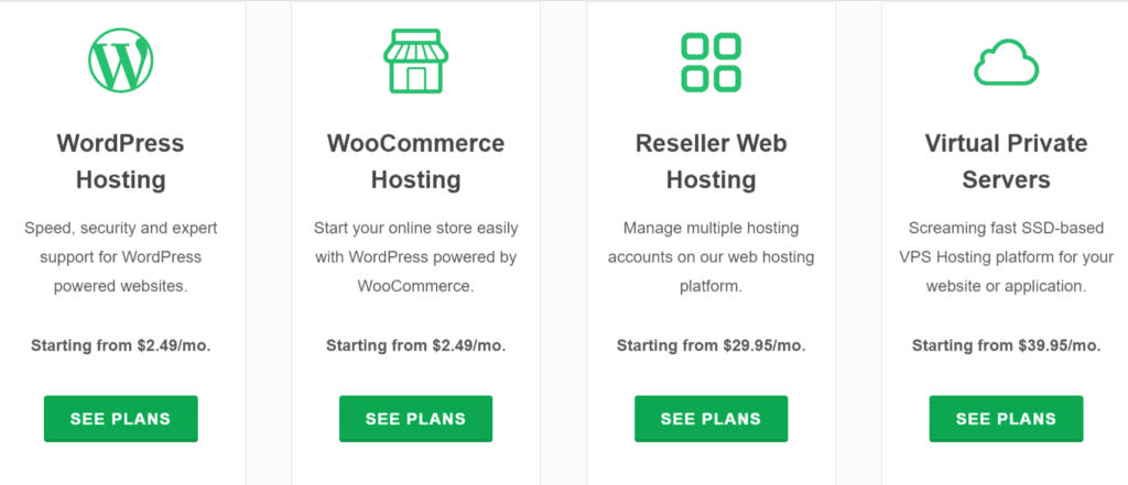 choose a hosting package